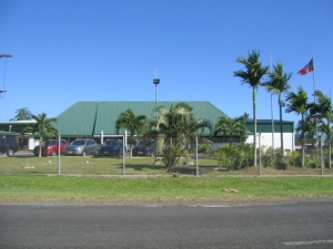 The cigarette factory in Apia. As close as I could get to it.