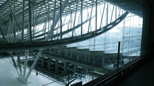 The train station at Charles De Gaulle airport, like, two levels down.
